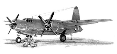 "Mike Lynch Limited Edition Museum Quality Giclée: ""Martin B-26 Marauder"""
