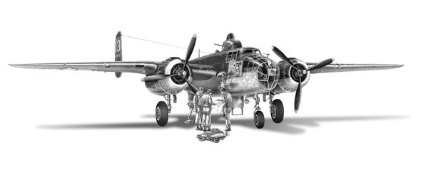 "Mike Lynch Limited Edition Museum Quality Giclée: ""North American B-25 Mitchell"""