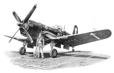 "Mike Lynch Limited Edition Museum Quality Giclée: ""Vought F4U-4 Corsair"""