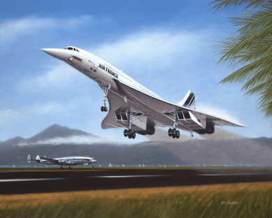 """Mike Machat Hand Signed and Numbered Limited Edition Print on Paper: """"Tahiti-Takeoff"""""""