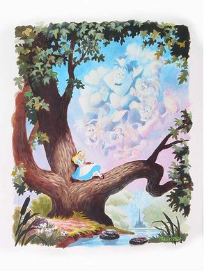 "Mike Perazza Hand Signed and Numbered Giclee on Paper:""Day Dreams - Alice in Wonderland """