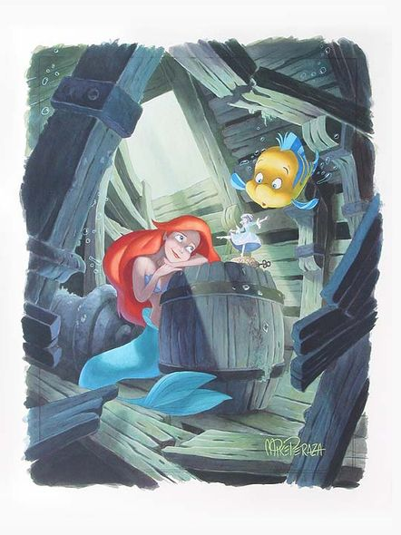 """Mike Perazza Hand Signed and Numbered Giclee on Paper:""""First in the Collection - The Little Mermaid """""""
