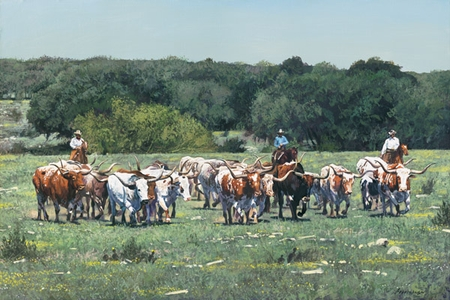 """Ragan Gennusa Hand Signed and Numbered Limited Edition Giclee:""""Texas Tradition"""""""