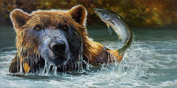 """Bonnie Marris Artist Signed Limited Edition Canvas Giclee:""""A Feast for the Eyes"""""""