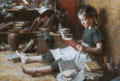 "Morgan Weistling Limited Edition Canvas Giclee:""In Her World"""