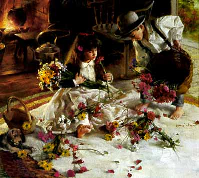 """Morgan Weistling Limited Edition Print: """"Gifts from the Garden"""""""