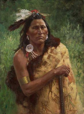 """Howard Terpning Artist Signed Limited Edition Canvas Giclee:""""Three Trophies"""""""