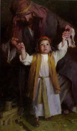 """Morgan Weistling Artist Signed and Numbered Limited Edition Print: """"Walking With God"""""""