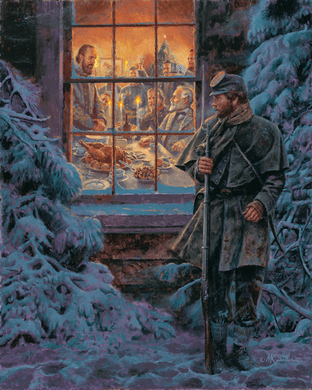 """Mort Künstler Hand Signed and Numbered Limited Edition 2011 Official Snow Print:""""...How Real Soldiers Live"""""""