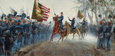 "Mort Künstler Hand Signed and Numbered Limited Edition:""Absolution Before Victory"""
