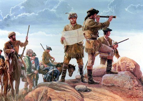 """Mort Künstler Hand Signed and Numbered Limited Edition Canvas Giclee:""""Lewis and Clark"""""""