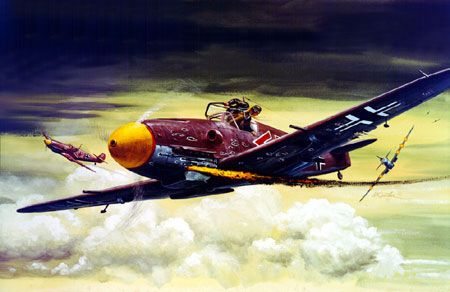 """Mort Künstler Hand Signed and Numbered Limited Edition Canvas Giclee:""""ME 109"""""""