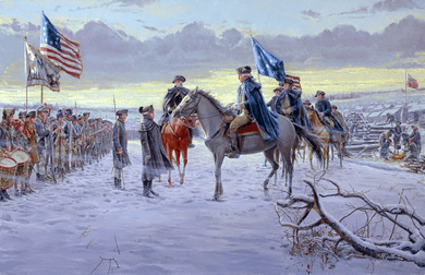 """Mort Künstler Hand Signed and Numbered Limited Edition Canvas Giclee :""""The Winds of Change (Washington at Valley Forge)"""""""