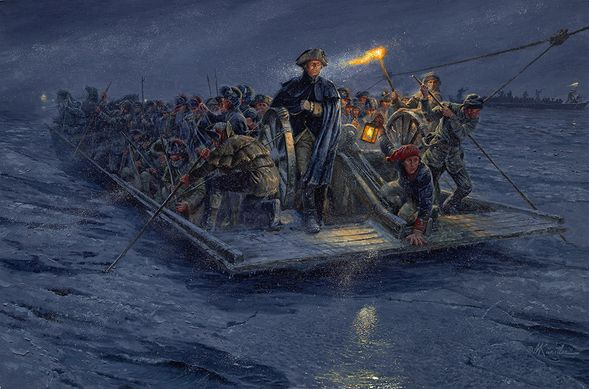 """Mort Künstler Hand Signed and Numbered Limited Edition Canvas Giclee:""""Washington's Crossing"""""""