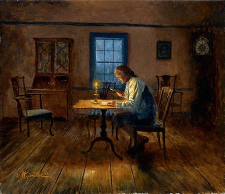 """Mort Künstler Hand Signed and Numbered Limited Edition Giclee Print:""""The Culper Spy  (Oyster Bay, Long Island, 1779)"""""""