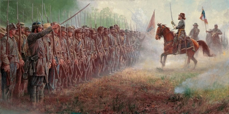 """Mort Künstler Hand Signed and Numbered Limited Edition Print and Canvas:""""Pickett's Charge"""""""