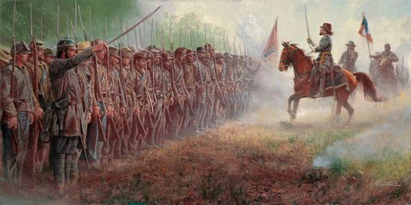 "Mort Künstler Hand Signed and Numbered Limited Edition Print and Canvas:""Pickett's Charge"""