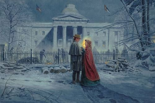 "Mort Künstler Hand Signed and Numbered Limited Edition Print :""Capitol Farewell"""