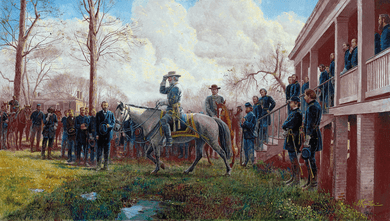 """Mort Künstler Hand Signed and Numbered Limited Edition Print:""""Respect of an Army"""""""