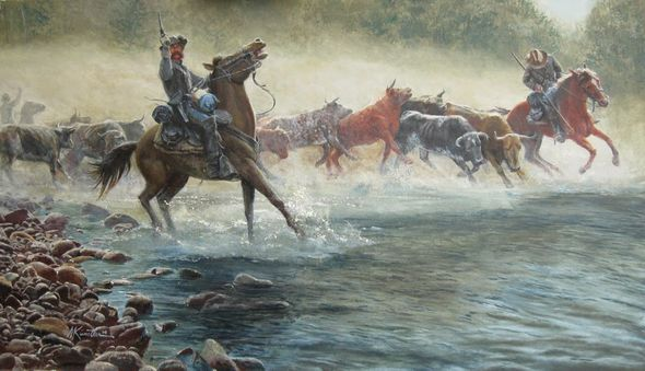 """Mort Künstler Hand Signed and Numbered Limited Edition:""""The Great Beefsteak Raid"""""""