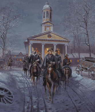 """Mort Künstler Handsigned and Numbered Limited Edition 2009 Snow Print:""""Gray Ghost, The"""""""