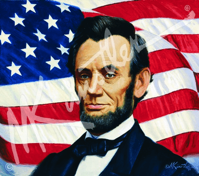 """Mort Kunstler Hand Signed and Numbered Limited Edition Giclee Canvas:""""Abraham Lincoln"""""""