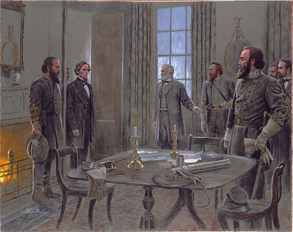 """Mort Kunstler Hand Signed and Numbered Limited Edition Giclee Canvas:""""President, This is Our Stonewall Jackson"""""""