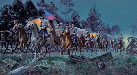 "Mort Kunstler Hand Signed and Numbered Limited Edition:""Lee Takes Command """