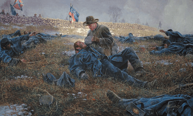 """Mort Kunstler Hand Signed and Numbered Limited Edition Print:""""Angel of Marye's Heights"""""""