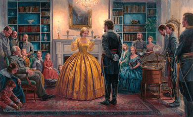 """Mort Kunstler Hand Signed and Numbered Limted Edition Print:""""Blessing of the Sword"""""""