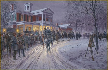 "Mort Kunstler Hand Signed & Numbered Limited Edition Print: ""Merry Christmas General Lee"""