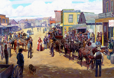 """Mort Kunstler Handsigned and Numbered Limited Edition AP Canvas Giclee:""""New Girls in Town"""""""