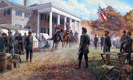 "Mort Kunstler Handsigned and Numbered Limited Edition Artist Proof Print:""Shenandoah Autumn """
