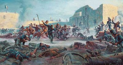 """Mort Kunstler Handsigned and Numbered Limited Edition Giclee on Canvas:""""Fall of the Alamo, The"""""""