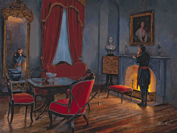 """Mort Kunstler Handsigned and Numbered Limited Edition Giclee on Canvas:""""The Great Decision"""""""