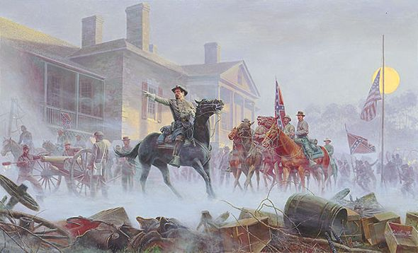 "Mort Kunstler Handsigned and Numbered Limited Edition Giclee on Paper:""Shenandoah Sunrise"""