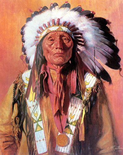 """Mort Kunstler Handsigned and Numbered Limited Edition Print:""""Chief High Horse"""""""