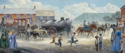 "Mort Kunstler Handsigned and Numbered Limited Edition Print :""Heavy Traffic on the Valley Pike"""