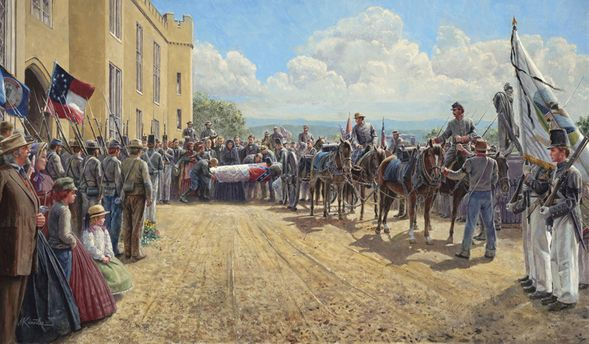 "Mort Kunstler Handsigned and Numbered Limited Edition Print:""Last Tribute of Respect"""
