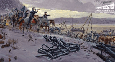 """Mort Kunstler Handsigned and Numbered Limited Edition Print:""""Washington's Watch Chain"""""""