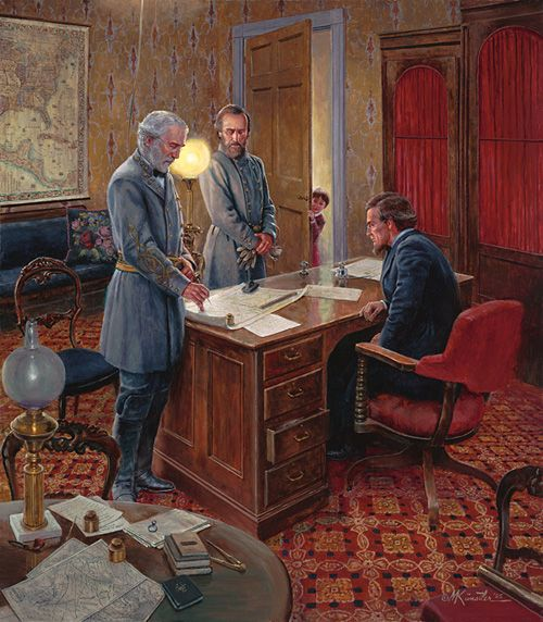 """Mort Kunstler Handsigned and Numbered Limited Edition Print: """"White House Strategy """""""