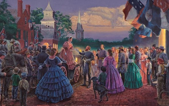 """Mort Kunstler Handsigned & Numbered Limited Edition Giclee on Canvas :""""Before the Ball """""""