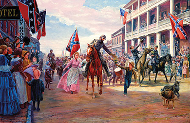 """Mort Kunstler Handsigned & Numbered Limited Edition Masterpiece Collection Giclee on Canvas: """"Gen. Thomas J. Stonewall Jackson"""""""