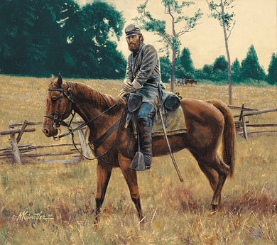 "Mort Kunstler Handsigned & Numbered Limited Edition Print:""Stonewall Jackson on Little Sorrel"""