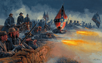 "Mort Kunstler Handsigned & Numbered Limited Edition Print:""Valor in Gray"""