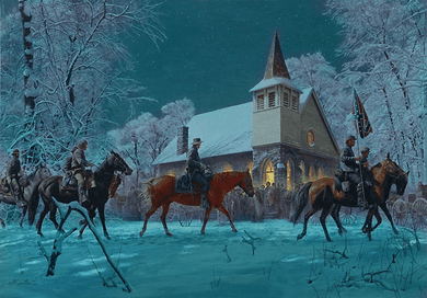 "Mort Kunstler Handsigned & Numbered Masterpiece Edition Canvas Giclee:""Southern Stars """