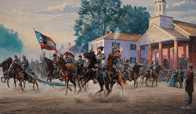 "Mort Kunstler Limited Edition Artist Proof Print:""Morgan's Ohio Raid"""