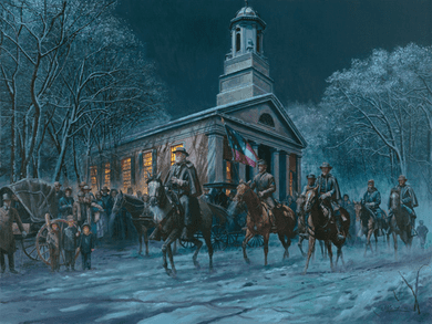 "Mort Kunstler Limited Edition Giclee on Canvas: ""Soldier of Faith"""