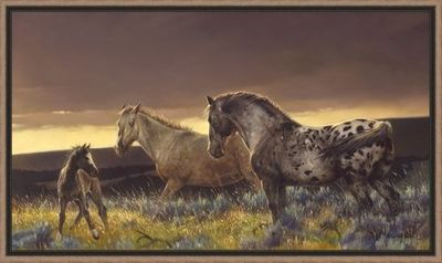 """Nancy Glazier 34 X 53 Stacked Framed Canvas Giclee Art:""""Dance of Life"""""""