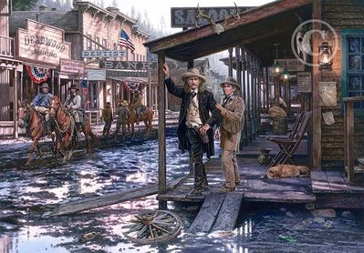 "John Paul Strain Artist Signed Limited Edition Giclee:""Wild Bill Hickock and Calamity Jane"""